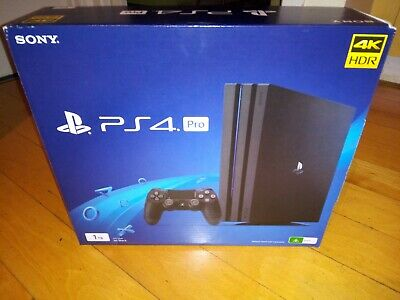 AU299 • Buy Sony PlayStation 4 Pro 1TB Black Console W/ Vertical Stand + 3 Games