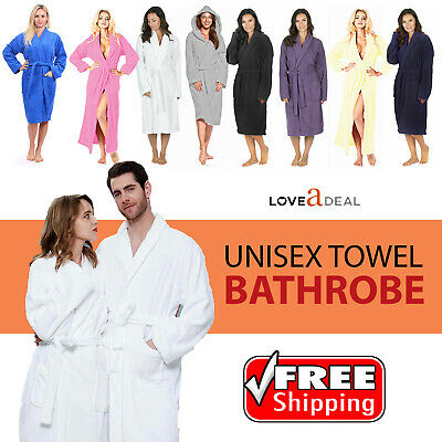 New Egyptian Cotton Toweling Unisex Bath Robe Dressing Gown Luxury Terry Towel • 15.96£