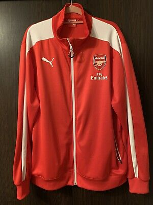 Mens Arsenal Zip Up Jacket 2XL BIG • 15£