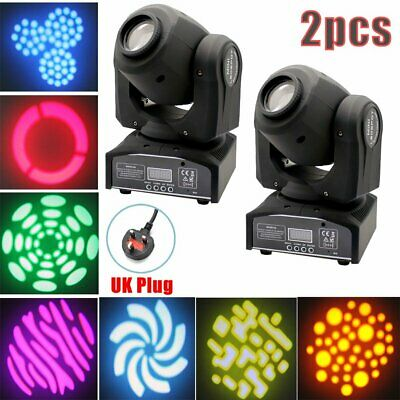 2x 30W GOBO Stage Lighting RGBW LED Spot Moving Head DMX512 Disco DJ Party Light • 146.88£