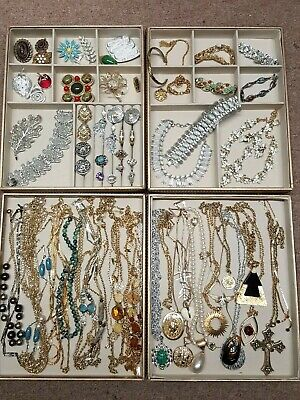 $ CDN133.59 • Buy HUGE VINTAGE LOT 60+ SIGNED SARAH COVENTRY~Brooches,Necklaces,Bracelets,Earrings