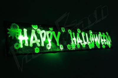 Halloween Flashing 3FT  Banner Party Decorations Lights Up -14 LED Window Door • 5.99£