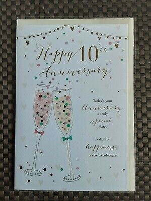 10th Anniversary Card  • 3.25£