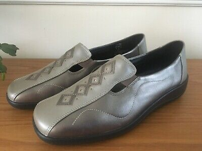 Hotter! Calypso Ladies Shoes! Pewter! Metalic! NEW! Size 8! • 20£