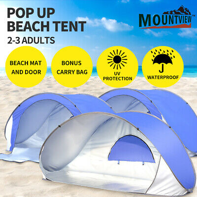 AU39.99 • Buy Mountview Pop Up Tent Beach Camping Tents 2-3 Person Hiking Portable Shelter