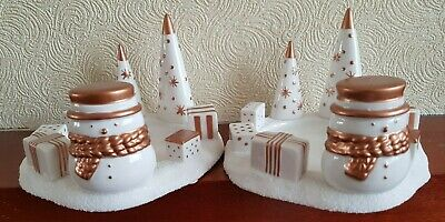2 X  Yankee Candle - Jackson Frost Snowman Jar Holder Christmas Accessories- New • 26.99£
