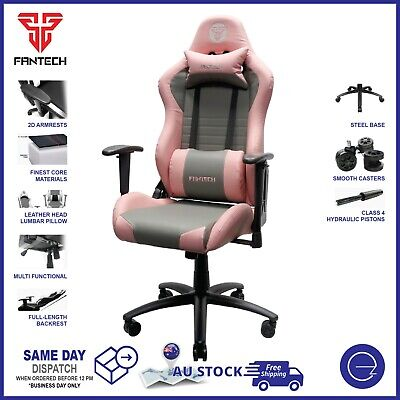 AU249 • Buy Fantech Gaming Pink Chair PU Leather Armrest Recline Ergonomic Pink Racing Chair