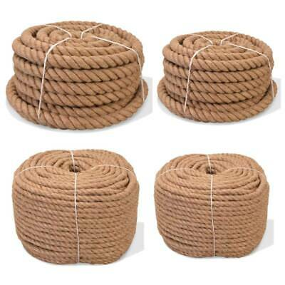 Natural Jute Hessian Rope Cord Braided Twisted Boating Sash Garden Decking Strap • 107.16£