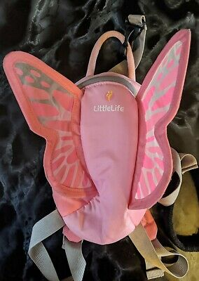 Little Life Pink Fairy Wings Toddler Reins Backpack Bag.  • 1.70£
