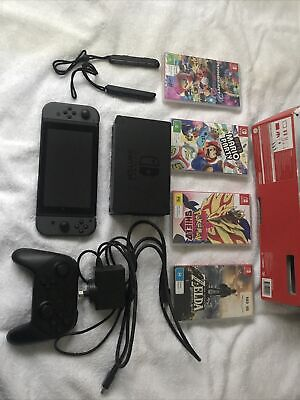 AU350 • Buy Nintendo Switch + 4 Games Mario Kart/Party Pokemon Sword Zelda BOTW + Controller