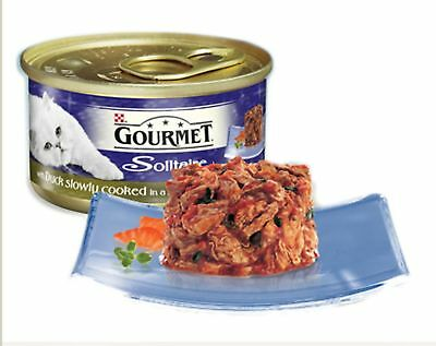 Gourmet Solitaire Can With Duck & Garden Veg In Sauce 85g (Pack Of 12) • 13.63£