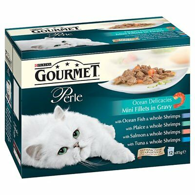 Gourmet Perle Pouch Ocean Delicacies 12x85g (Pack Of 4) • 32.65£
