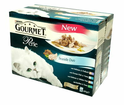 Gourmet Perle Pouch Seaside Duos 12x85g (Pack Of 4) • 32.65£