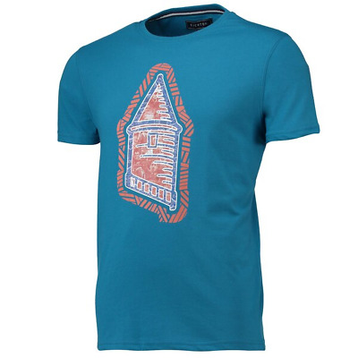 Everton Mens Football T-Shirt Terrace Tower T-Shirt - Teal - New • 11.99£