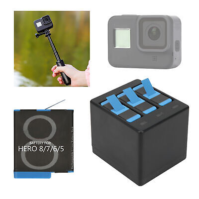 $ CDN44.39 • Buy 3 Slot Battery Charger For Gopro Hero 5/6/7/8 Sports Camera Battery Accessories