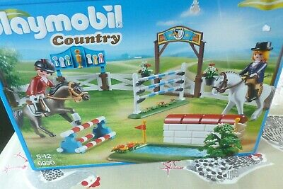 Playmobil Country Horse Show Jumping Gymkhana Play Set 6930 In Box VGC • 12.99£