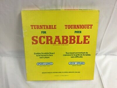 Spear's Games Vintage Scrabble Turntable In Original Box - SA • 3.99£