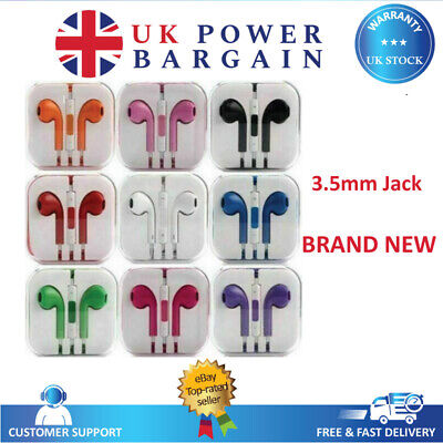 Colour Headphones Earphones With Mic For HTC Sony Samsung - Universal 3.5mm • 2.45£