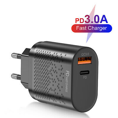 $ CDN6.24 • Buy QC3.0 PD 18W Fast Quick Charge USB Type-C Wall Charger Adapter US/EU Plug