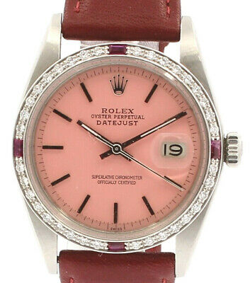 $ CDN8249.16 • Buy Men Vintage ROLEX Oyster Perpetual Datejust 36mm PINK Dial Watch