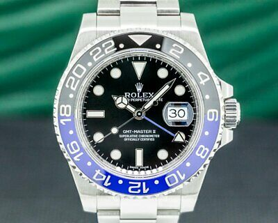 $ CDN19915.34 • Buy Rolex 116710BLNR GMT Master II 116710 Ceramic Black & Blue  Batman  SS