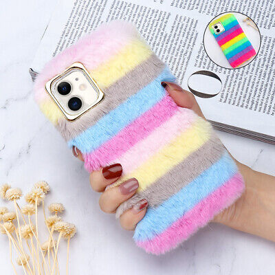£5.59 • Buy Soft Warm Plush Fluffy Phone Case Cover Comfy Faux Fur For IPhone 12 11 X 8 7 SE