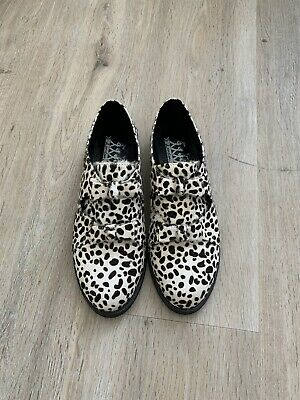 £20 • Buy F-Troupe Black/White Pony Hair Loafers Flats Size 36
