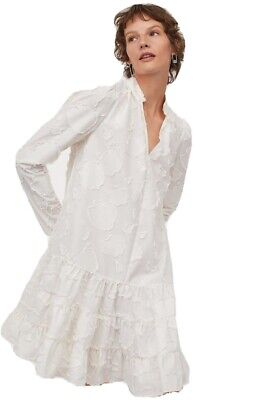 H&M White Jacquard Weave Dress Size Extra Small SOLD OUT • 24.99£