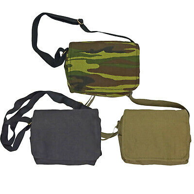 £8.50 • Buy Canvas Shoulder Bag Vintage Army Military Style Haversack Tool Webbing Small New