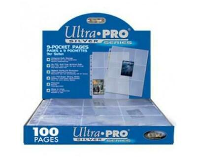 Perfect Trading Card A4 Sleeves - 20 Ultra Pro 9 Pocket Silver • 11.35£