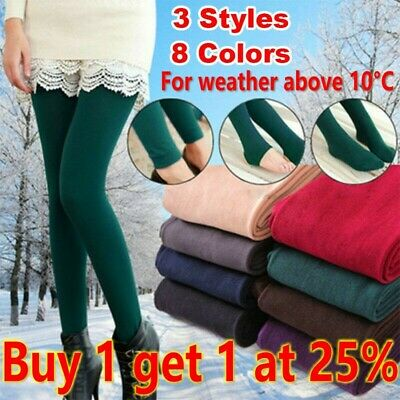 Women's Ladies Winter Warm Fleece Lined Thick Thermal Full Foot Tights Pants Hot • 4.15£