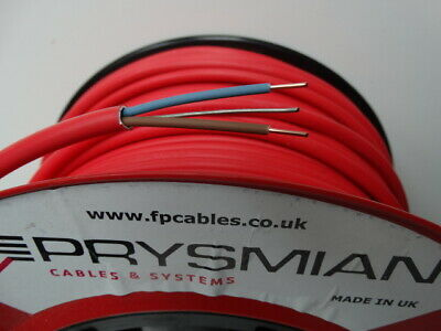 PRYSMIAN FP200 Gold 1.5mm 2core & Earth Fireproof Cable Red - £1.49/m • 1.49£