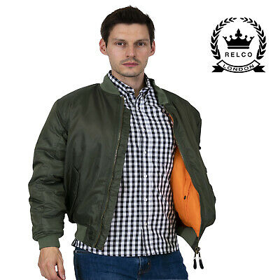 Relco MA1Olive Green Flight Jacket Skinheads Ska Doorman Bomber Jacket  • 39.99£
