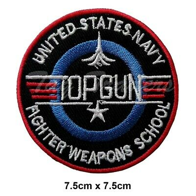 £2.29 • Buy TOP GUN VIDEO GAME  Iron On Patch Embroidered Sew On  T Shirt Jacket Badge