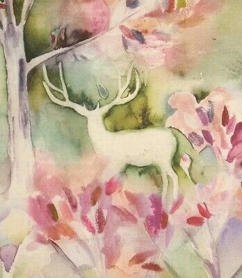 Voyage Maison Seneca Forest Spring| Linen Watercolour Stag Fabric Curtains  • 26.95£