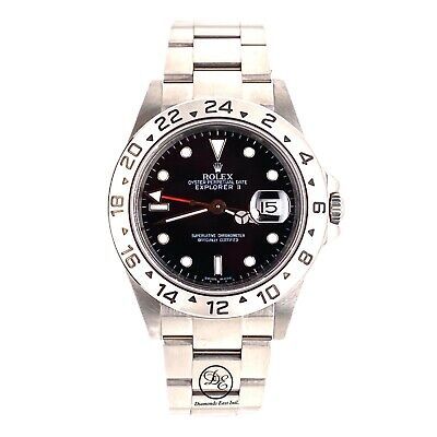 $ CDN12630.36 • Buy Rolex Explorer II 16570 Black Dial 40mm GMT Stainless Steel Watch Papers MINT