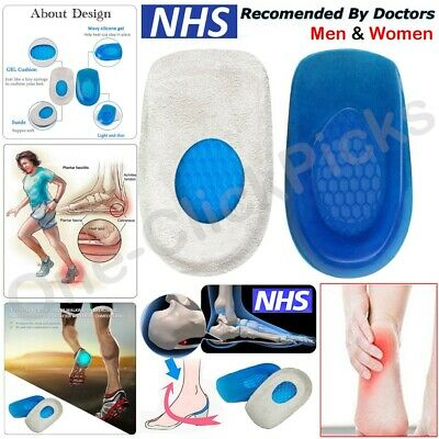 Orthotic Heel Gel Support Pads Cushion Cup Insoles For Plantar Fasciitis Pain • 2.75£