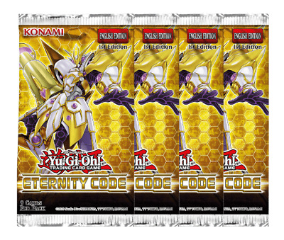 Eternity Code Booster Packs X4 - 1st Edition - Sealed  - ETCO - Yu-Gi-Oh! Cards • 12.75£