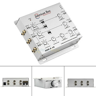$ CDN69.72 • Buy 3 Way Electronic Crossover With Remote Level Control American Bass ABX-3.1A