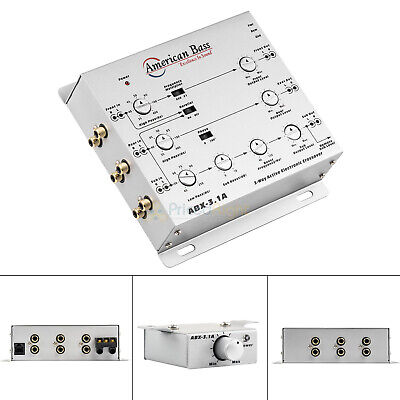 $ CDN66.74 • Buy 3 Way Electronic Crossover With Remote Level Control American Bass ABX-3.1A