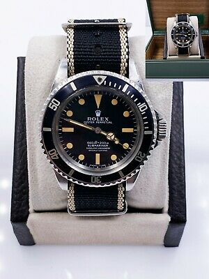 $ CDN51029.65 • Buy Vintage Rolex Submariner 5512 Matte Pumpkin Dial 4 Line Stainless Steel With Box