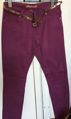 New Look Brand New Maroon Skinny Jeans Size 12 Excellent Condition • 15£