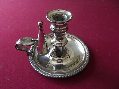 Silver Plate Candle Holder With Snuffer • 25£