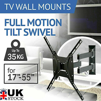 TV Wall Bracket Mount Tilt & Swivel For 32 37 40 42 43 55 50 Inch Monitor LCD BO • 9.89£