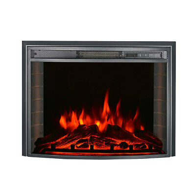 £69.95 • Buy Electric Curved Glass Insert Wall Fireplace Freestanding Heater LED Flame Effect