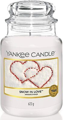 Yankee Candle Scented Candle | Snow In Love Large Jar Candle | Burn Time: 150 Hr • 21.99£