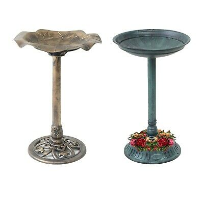 Garden Bird Bath Bowl Planter Outdoor Traditional Bird Feeding Table Station • 13.49£
