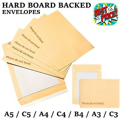 £4.19 • Buy Please Do Not Bend Hard Card Board Backed Envelopes Manilla Brown C5 A5 A4 A3 A6