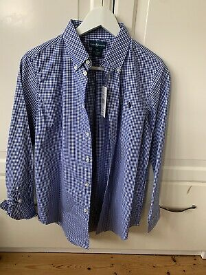 Ralph Lauren Navy Gingham Shirt Age 16 Boys BNWT • 12£