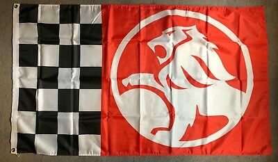 AU25 • Buy HOLDEN CHEQUERED HUGE Flag..Classic Car Show, Man Cave, Garage, Shed